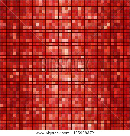 Vector red mosaic background