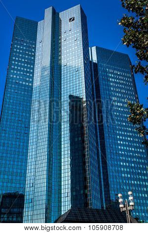 Modern Skyscrapers Of Frankfurt Am Main, Germany