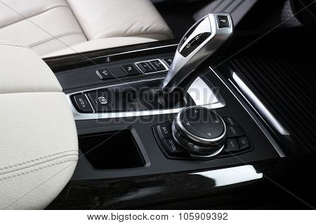 Car Interior. Gear Shifting Lever 2