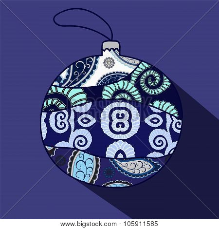Christmas  Isolated Ball. Vector Illustration