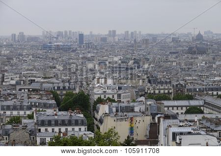 Overview Of Paris Roofs In France