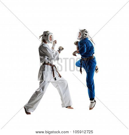 Kudo fighters are fighting Isolated