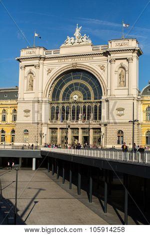 BUDAPEST, HUNGARY - CIRCA SEPTEMBER 2015: Budapest Keleti railway station (Hungarian: Budapest Keleti palyaudvar) opened in 1884.