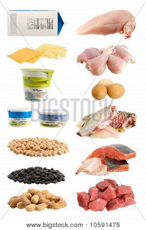 Group of healthy food