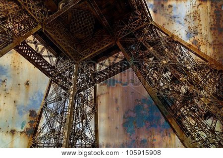 Rusty Background  With Eiffel Tower 3