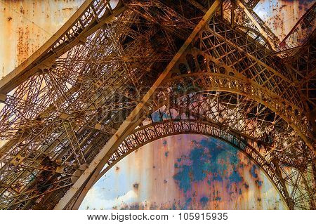 Rusty Background  With Eiffel Tower 4