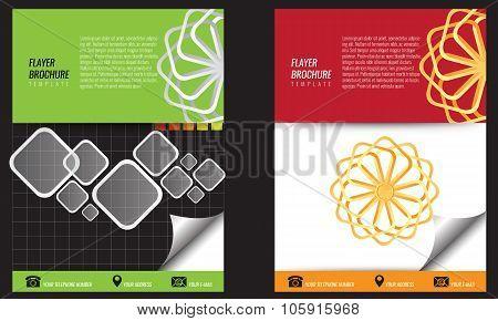 Vector empty bi-fold flayer brochure design print template