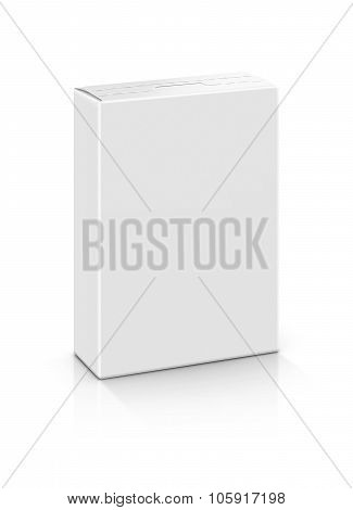 Blank Packaging Paper Box Isolated On White Background