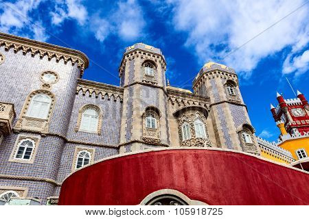 Historic Royal Palace of Pena in Portugal.