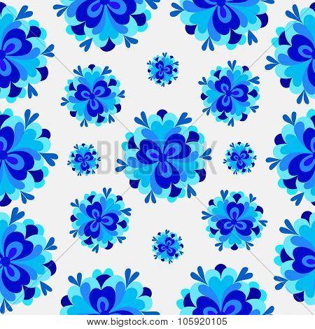 Flowers Blue Pattern
