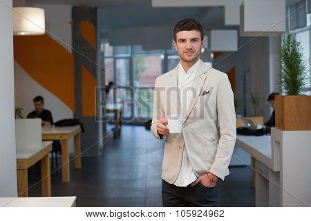 Happy Worker In Office