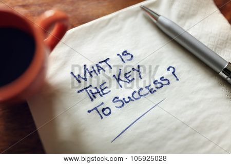 What is the key to success inspirational business concept