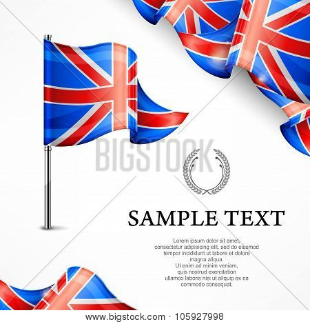 British Flag & Banners With Text