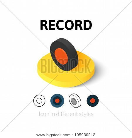Record icon in different style