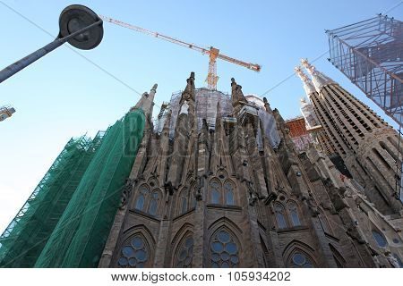 Barcelona Spain - Juny 9: La Sagrada Familia - The Impressive Ca