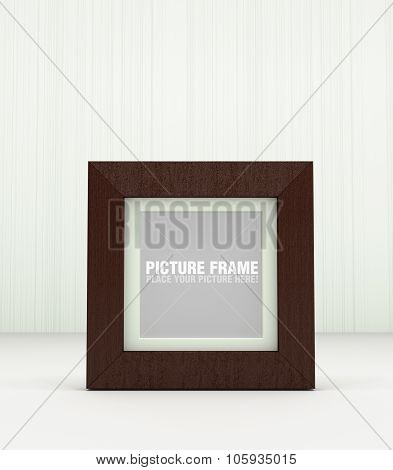 Square wooden picture frame