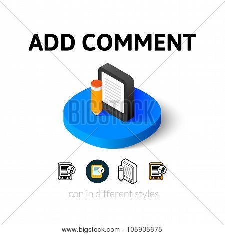 Add comment icon in different style