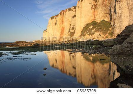 Sunset Over The Cliffs Of Etretat