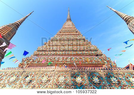 Bangkok, Thailand - April 14, 2015: Close Up Of Wat Pho Known Also As The Temple Of The Reclining Bu