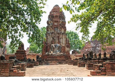 Wat Maha That In Ayutthaya, Thailand