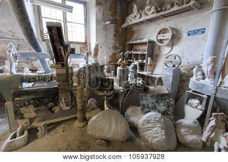Italy, Tuscany, Volterra, Alabaster Handwork