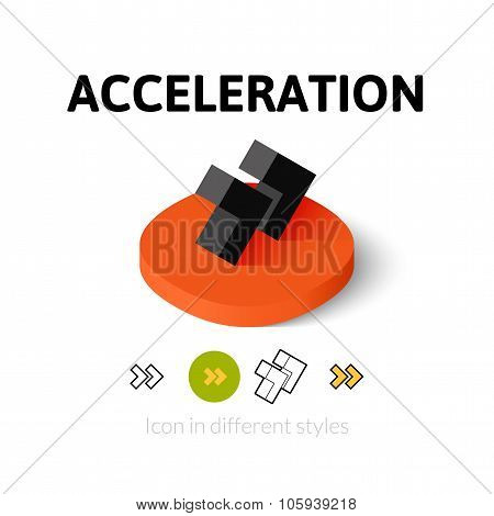 Acceleration icon in different style