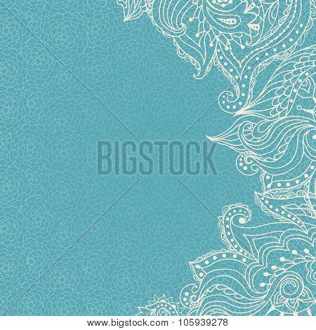 Vintage Ornamental Lace Invitation