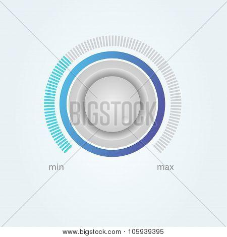 User interface scanning element for media player. Vector illustration