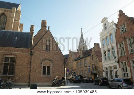 Gothic buildings in Bruges