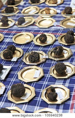 Closeup Of Black Truffles