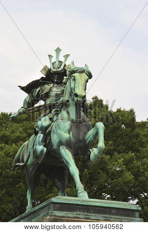 Kusunoki Masashige Statue -samurai Warrior