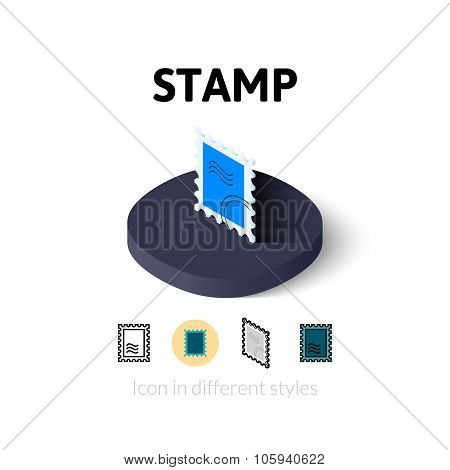 Stamp icon in different style