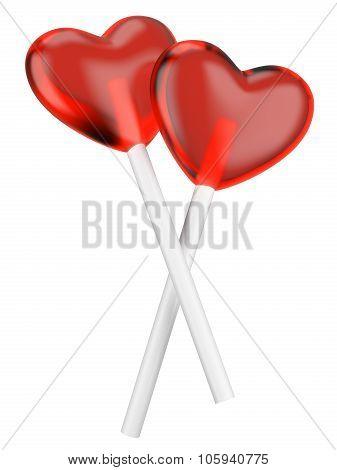 Heart Candy Lollipops.