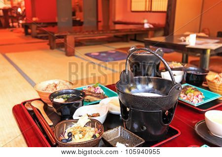 Otaru, Japan - July 9,2015: Japanese Restaurant With Traditional Food Of Hokkaido