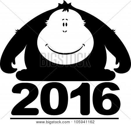 Monkey 2016. Silhouette