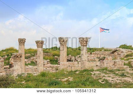 Amman Citadel Ruins In Jordan