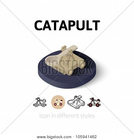 Catapult icon in different style