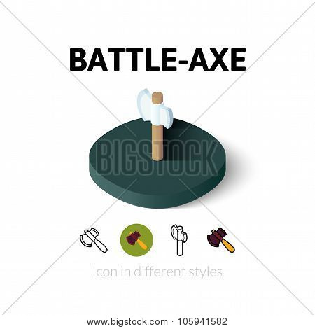 Battle-Axe icon in different style