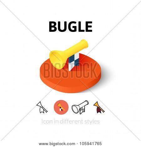 Bugle icon in different style