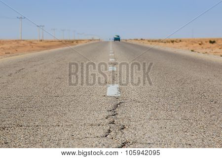 Road In The Desert Of Jordan