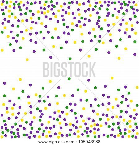 Mardi Gras dot background. Engraving illustration.Seamless pattern.