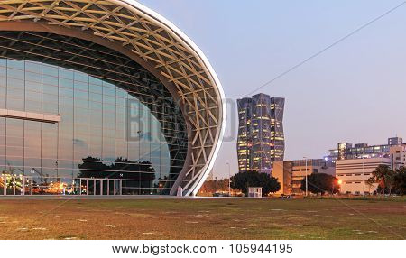 Kaohsiung, Taiwan - December 18, 2014: The Newly Opened Kaohsiung Exhibition Center And The China St
