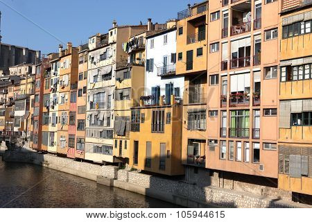 View Of The Old Town With Colorful Houses Reflected In Water Jew