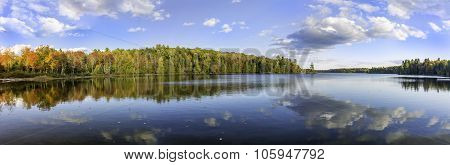 Panorama Of A Lake In Autumn - Ontario, Canada