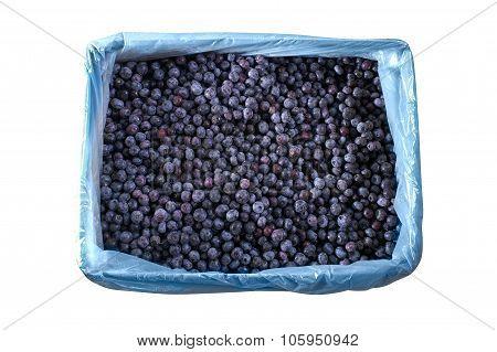 Frozen Blueberries In Crates Texture - Background