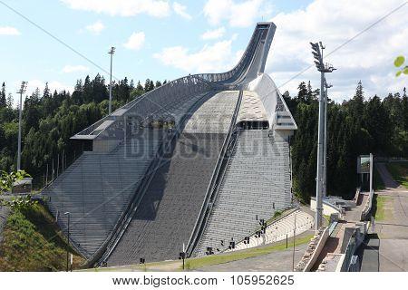 Oslo, July 26: Holmenkollen Ski Jump Hill Oslo, Norway On July 2