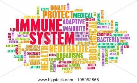 Immune System of a Good and Healthy Human Body