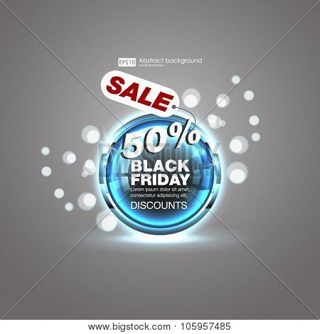 Sale design element with shine effect design. Abstract Colorful Background. Set of blank  round buttons for website or app.  Shiny button with metallic elements, vector design for website.
