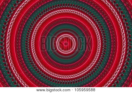 Illustration Of Colorful Circles With A Red Center