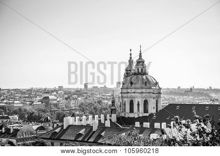 Panorama Of The City Of Prague And St Nicholas Church